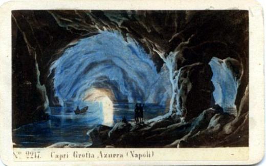 Capri,grotta Azzura,early postcard,atlasobscura dot com