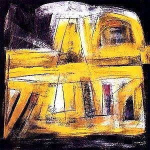 Nigro aka Francisco Casariego, Oviedo 1919-2010, Amarillo sobre negro 1999,acryl,99102c